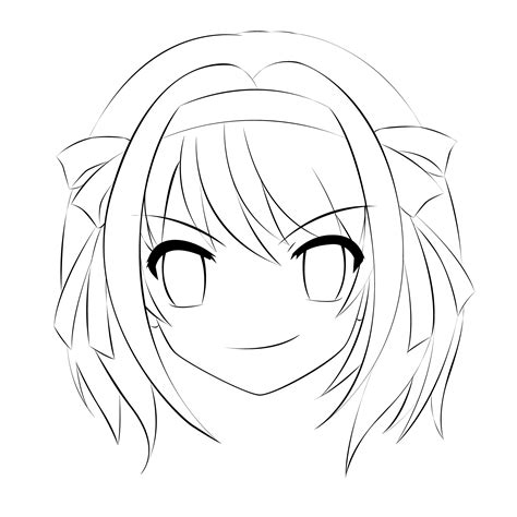 Anime Outline by Haruhi Outline By Animeenthusiast On Deviantart