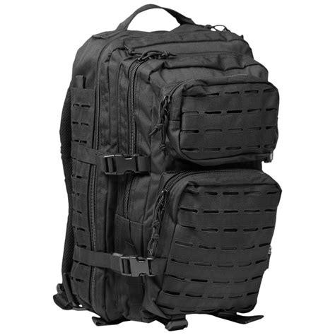 one rucksack mil tec us assault pack large laser cut black backpacks