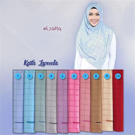 jilbab segiempat motif kotak elzatta kaila laveeda jual baju gamis murah jilbab model terbaru