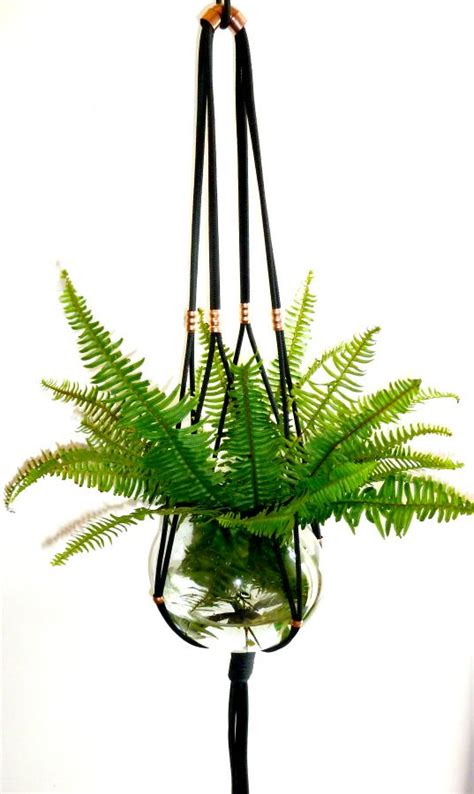 Where Can I Buy Macrame Plant Hangers - the knot studio black and copper macrame plant hanger