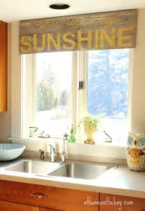 Kitchen Window Coverings by Not Your Usual Kitchen Window Treatment