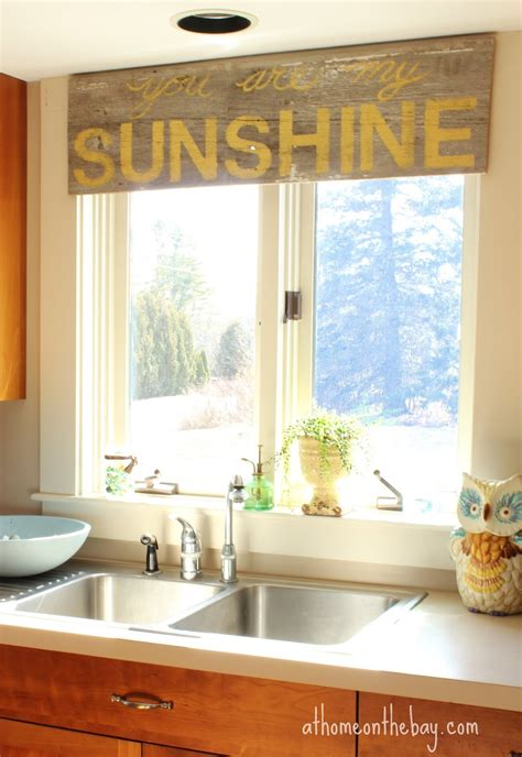 kitchen window treatment coastal style window valance room ornament