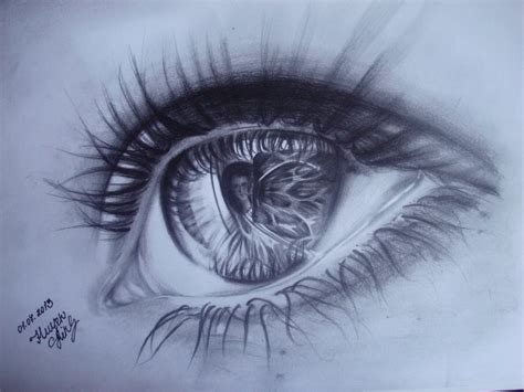 eye drawing realistic eye drawing with pencil by huyen linh on deviantart