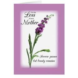 sympathy loss of purple religious card zazzle