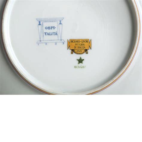 richard ginori pittoria di doccia piatto in porcellana policrcoma gio ponti per pittoria di