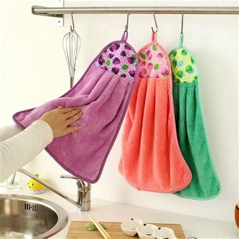 Hanging Kitchen Towels by New Creative Towels Coral Velvet Thickening
