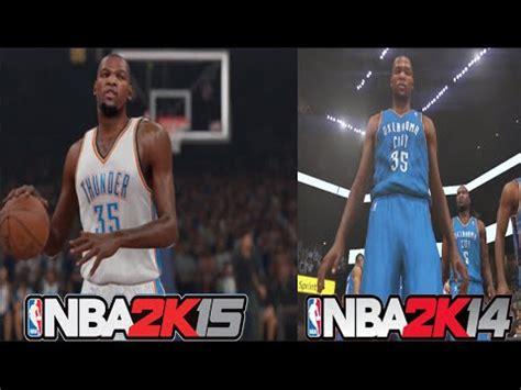 graphics vs nba 2k14 2k15 nba 2k15 vs nba 2k14 official graphic comparison youtube