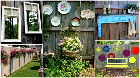 Outdoor Fence Decor by Top 23 Diy Garden Fence Decorations To Mesmerize Pedestrians