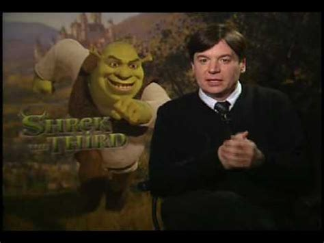 mike myers voice of shrek mike myers interview for shrek the third youtube