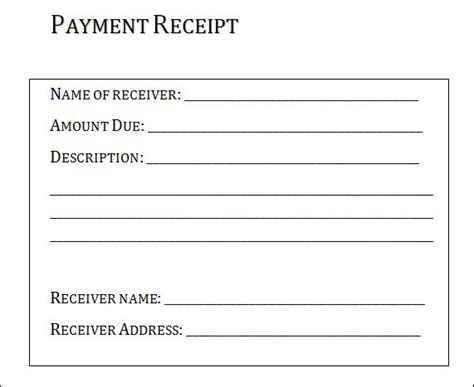 basic receipt template simple payment receipt exle for your business helloalive