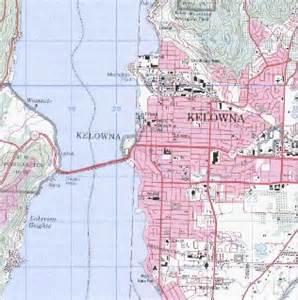 kelowna topo map