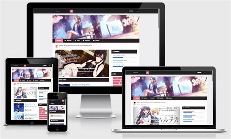theme blog anime download sakura responsive anime blogger template way