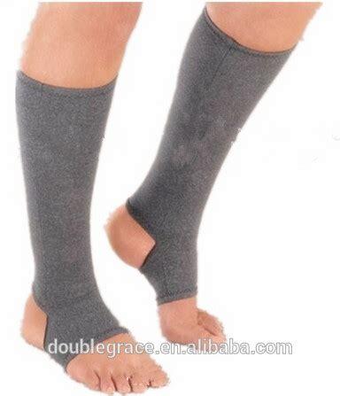Heel Socks Open Toe gel compression knee sock with gel in stirrup toeless