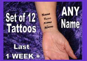 name tattoo temporary temporary ur name tattoos inner wrist x12 personalised