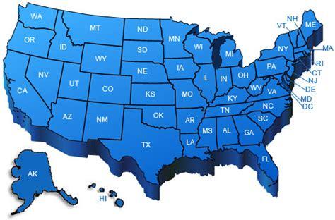 united states map showing and blue states estados unidos mapa azul mapas