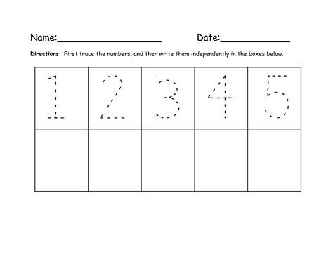 practice writing numbers preschool 1 5 simple loving