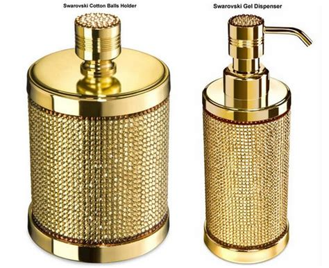 Gold Bathroom Accessories Bling Bathrooms Maison Valentina
