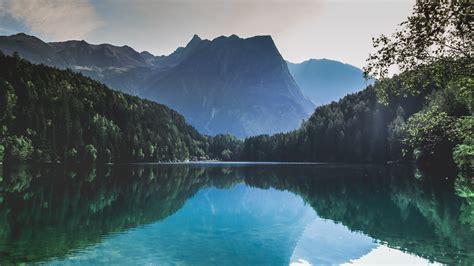 mountains lake reflection  hd nature  wallpapers