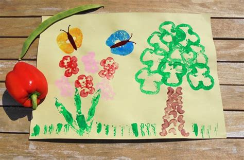 printing with fruit and vegetables vegetable printing how to make a vegetable printing