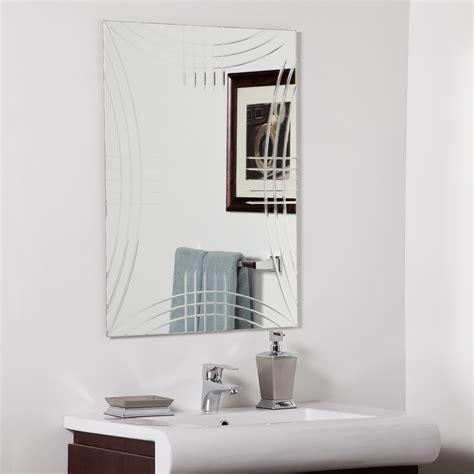decor wonderland strands modern bathroom mirror beyond decor wonderland caydon modern bathroom mirror beyond stores