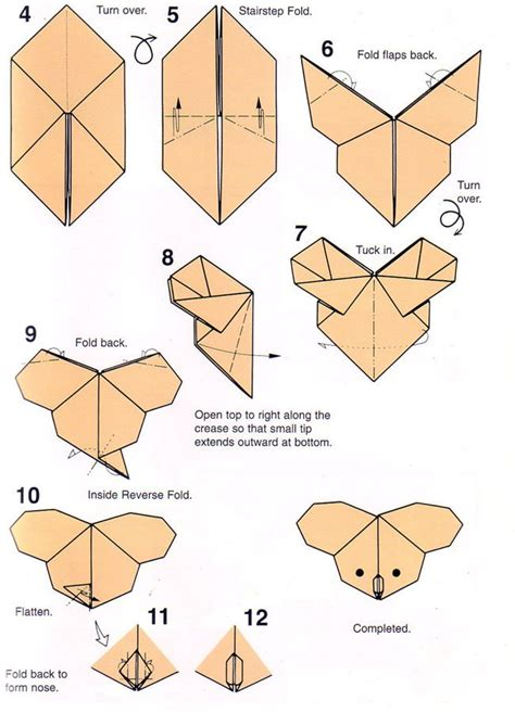 Origami Paper Step By Step - 25 best ideas about origami step by step on