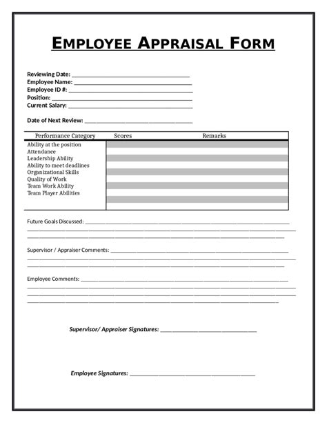 employee appraisal sles letter of release form free