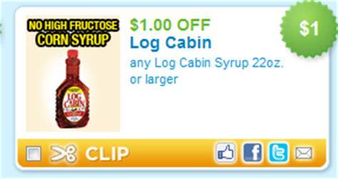 1 00 1 log cabin syrup coupon addictedtosaving