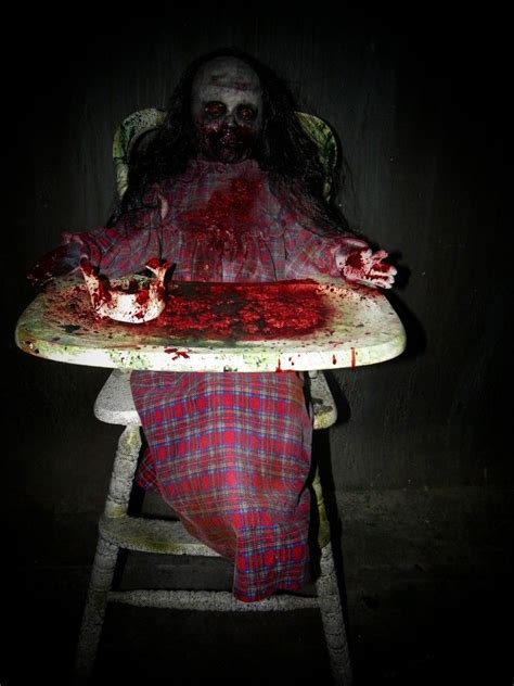 halloween themes for haunted house feed me franny zombie girl with high chair