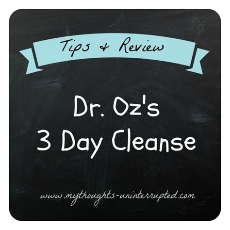 Dr Oz 2 Day Detox by Dr Oz S 3 Day Detox Cleanse Review Tips My Thoughts