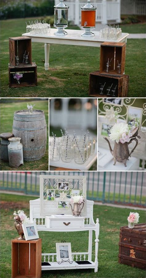 shabby chic beach wedding ideas from this that vintage rentals jars straws and wedding