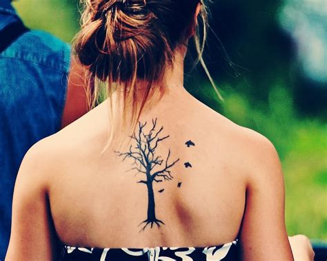 tree and bird tattoo designs ideas for styler
