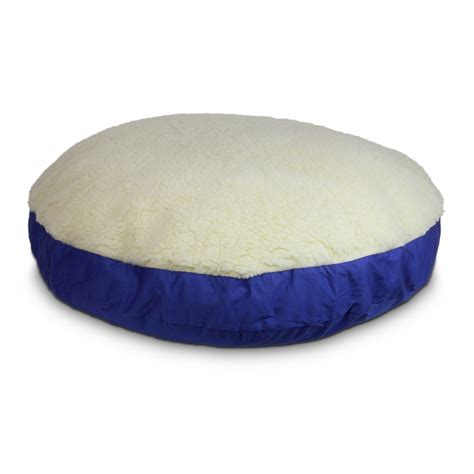 round bed pillows replacement cover round pillow dog bed with cream fur 11