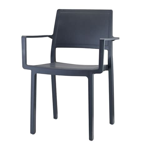 kate collection writing desk kate 2340 technopolymer chair with armrests stackable