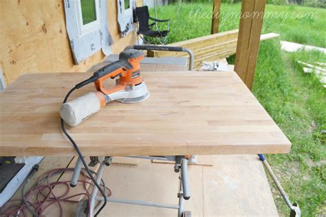 Kitchen Island Or Table by Whitewash And Seal A Butcher Block Counter Top The Diy Mommy