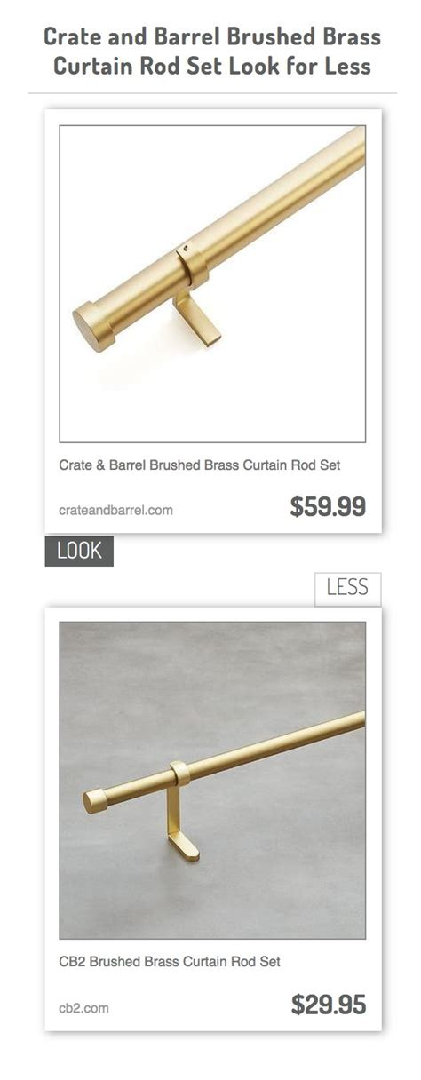 Crate And Barrel Curtain Rods Decor Crate And Barrel Brass Curtain Rod Curtain Menzilperde Net