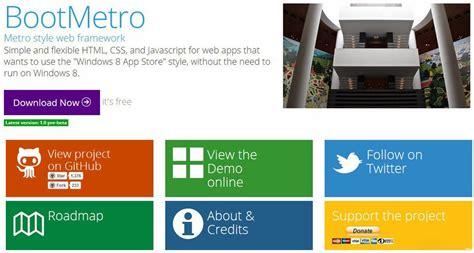 bootstrap themes free metro free metro ui templates to create windows 8 metro style