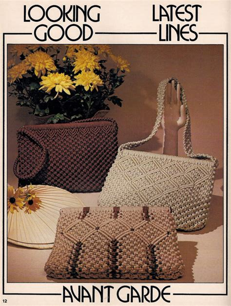 Books On Macrame - vintage macrame purse news 2 craft book patterns and