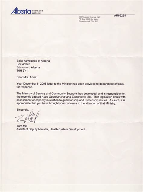 guardian letter template best photos of senior sle letter of guardianship
