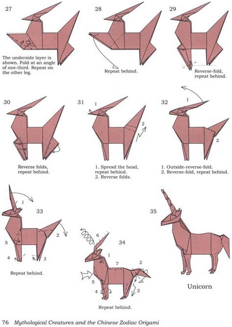 How To Fold An Origami - origami unicorns and how to fold on