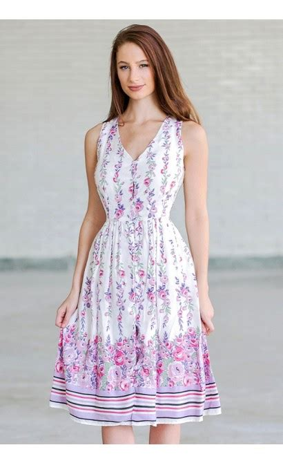 Print Midi Sundress purple and pink floral print dress floral print sundress