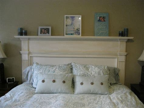 fireplace headboard i made an old fireplace mantle into our headboard in the