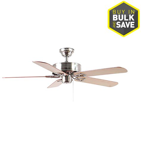 long downrod ceiling fan shop harbor breeze classic 52 in brushed nickel downrod or