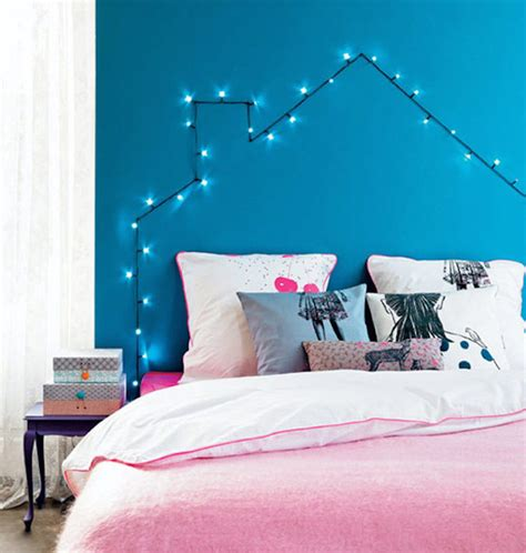 diy led headboard how you can use string lights to make your bedroom look dreamy
