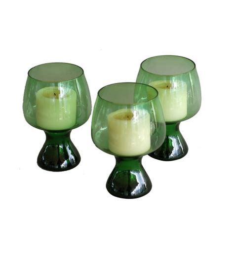 3 Glass Candle Holders 3 Glass Candle Holders