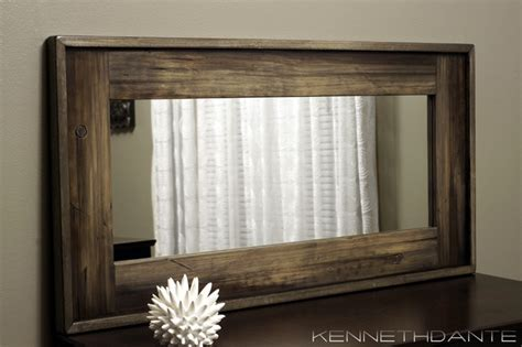 17 awesome framing a large bathroom mirror gallery wood framed mirrors rustic milwaukee by kennethdante
