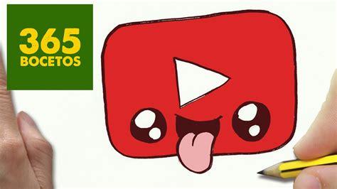imagenes kawaii youtube como dibujar logo youtube kawaii paso a paso dibujos