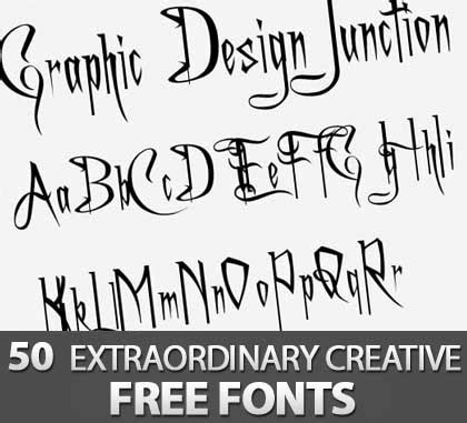 creative font design online free fonts 50 extraordinary creative free fonts for