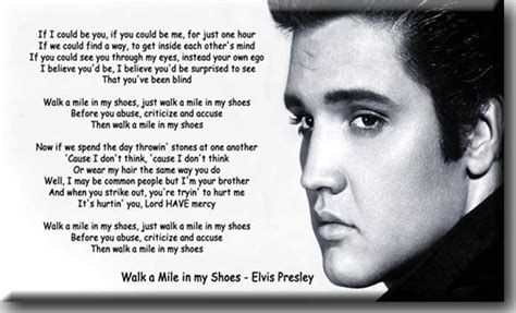 walk a mile in my shoes poems songs