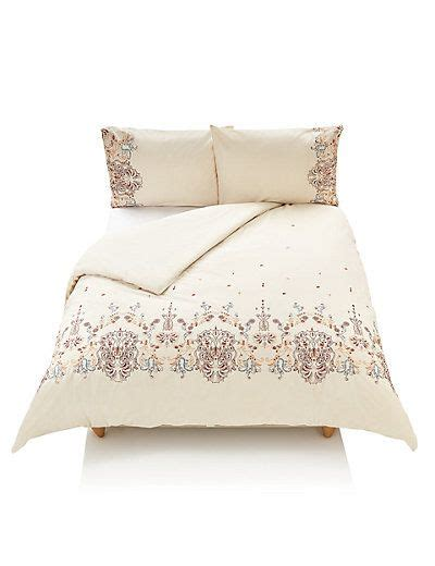 m s bed linen zarah embroidered bedding set m s whiston