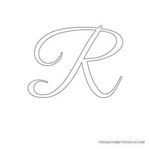 cursive alphabet stencils in printable format